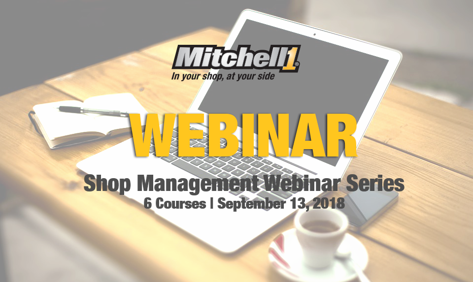 Mitchell 1 Manager SE Shop Management Webinar Series Classes and Dates