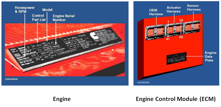 Engine Control Module in Truck Series for commercial truck repair