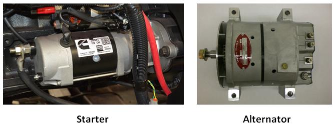 Starter and Alternator of commercial truck