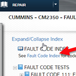 Fault Diagnostic Indes in Repair Information