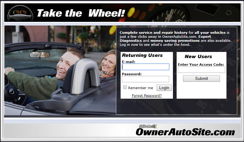 SocialCRM OwnerAutoSite - customer vehicle history website