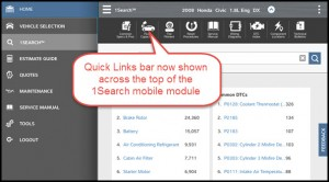 quick links mobile