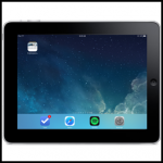 ipad with shortcut icon