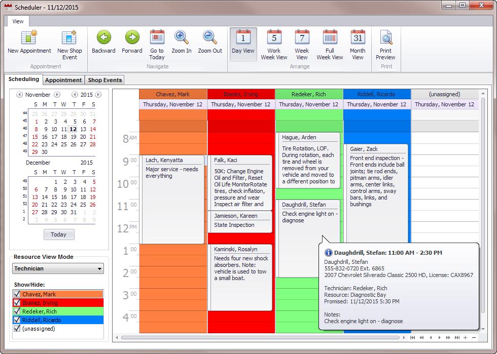 Manager SE Scheduler