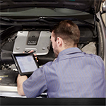 Using mobile devices to improve auto repair shop workflow