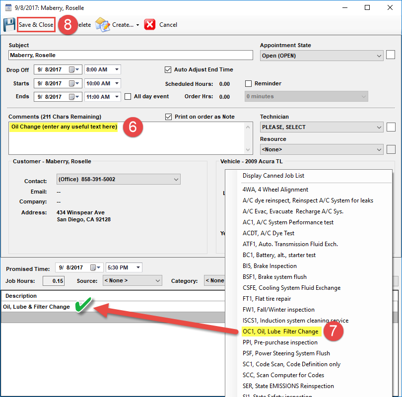 Scheduling in Mithcell 1 Manager SE Shop Management Software