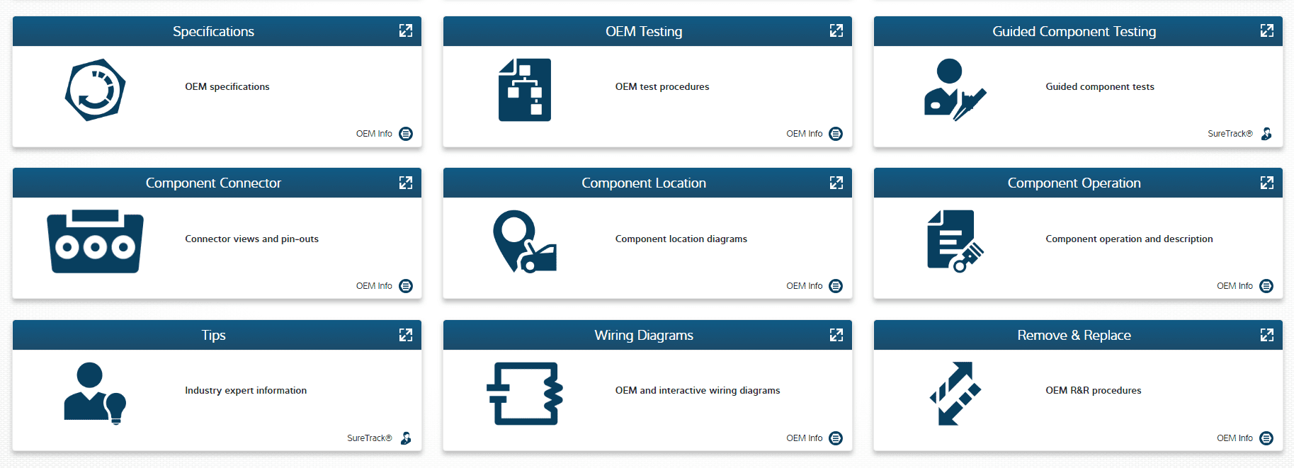 1Search Plus new screen/user interface - graphical cards