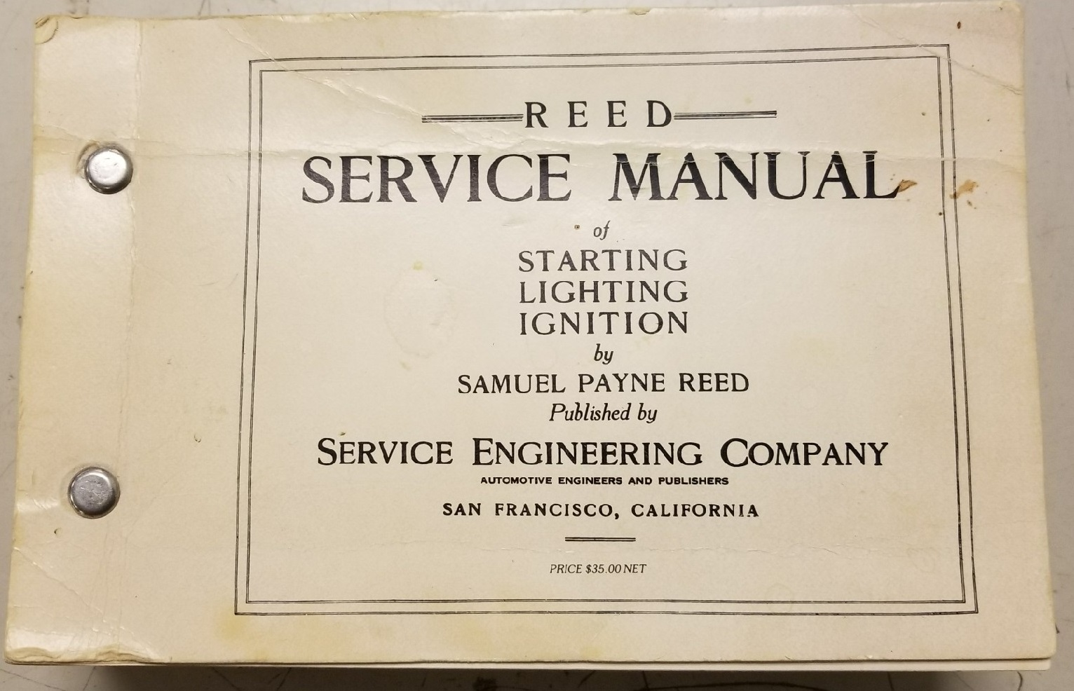 Reed Service Manual - Mitchell 1 History