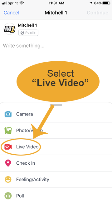 Selecting a Live Video for Auto Repair Video