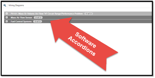 What are accordians in software and where to find them