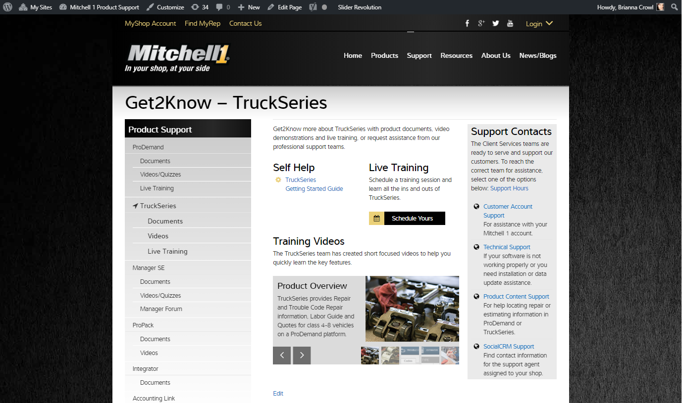 TruckSeries Help and Resources