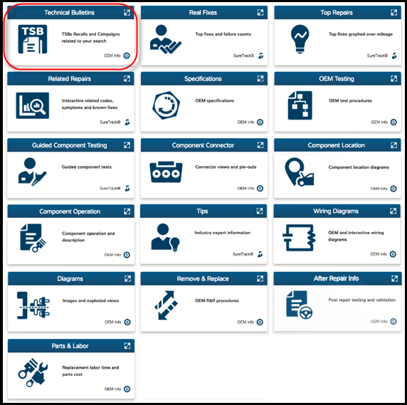 How to find New ProDemand 1Search Plus Tile format